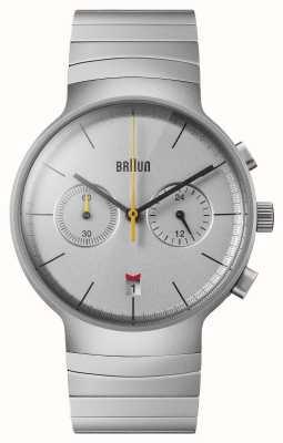Braun Men's Chrono | Silver Dial | Stainless Steel Bracelet BN0265SLBTG