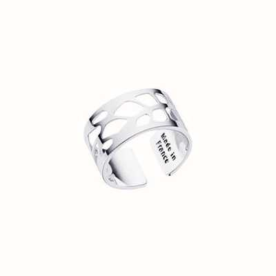 Les Georgettes 12mm Resille Silver Finish Ring (58) 70296061600058