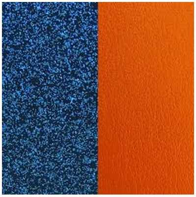 Les Georgettes 25mm Leather Insert | Blue Glitter/Apricot 702755199CF000