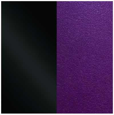Les Georgettes 25mm Leather Insert | Patent Black/Dark Purple 702755199CJ000