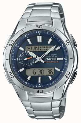 Casio Mens Wave Ceptor Blue Dial Stainless Steel WVA-M650D-2AER