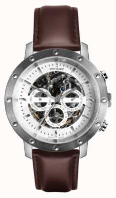 Weird Ape Icarus 3-dial | White Dial | Brown Leather Strap WA02-005741