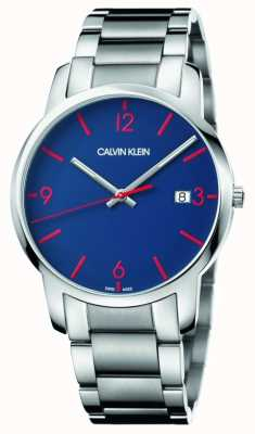 Calvin Klein Men's City | Stainless Steel Bracelet | Blue Dial K2G2G147
