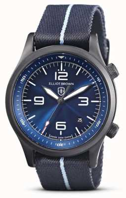 Elliot Brown Mens | Canford | Blue Dial | Blue Fabric 202-023-N12