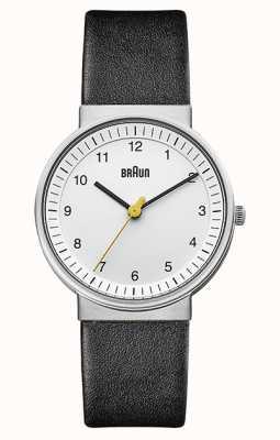 Braun | Women's | Simple Quartz | Black Leather Strap | BN0031WHBKL