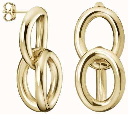 Calvin Klein | Statement | Gold Tone | Steel Drop Earrings | KJALJE100100