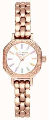 Olivia Burton | Rainbow Pale Rose Gold Bracelet | White Dial | OB16CC50