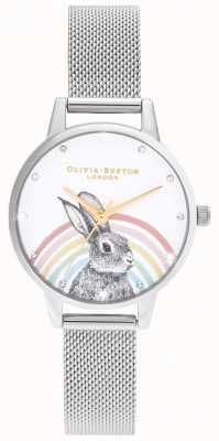 Olivia Burton Rainbow Bunny, Gold & Silver Mesh OB16WL89