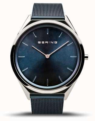 Bering   Unisex   Ultra-Slim   Blue Mesh Bracelet   17039-307