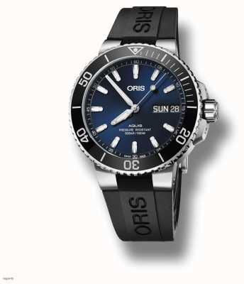 ORIS Aquis | Big Day Date | Blue Dial | Black Rubber Strap 01 752 7733 4135-07 4 24 64EB