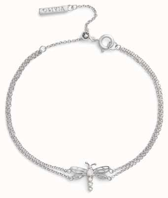 Olivia Burton Bejewelled Dancing Dragonfly | Silver Bracelet OBJAMB102