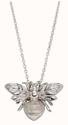 Elements Gold | 9 Carat White Gold | Detailed Bee | Pendant Only | GP2227