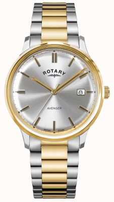 Rotary Men's Avenger | Two-Tone Stainless Steel | Silver Dial | GB05401/06
