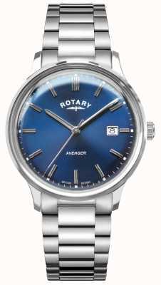 Rotary Men's Avenger | Stainless Steel Bracelet | Blue Dial GB05400/05