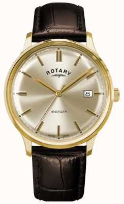 Rotary Men's Avenger | Brown Leather Strap | Champagne Dial GS05403/03