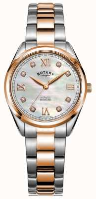 Rotary Women's Henley | Two-Tone Steel Bracelet | Diamond Set Dial LB05112/41/D