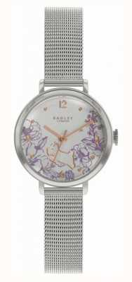 Radley | Women's Steel Mesh Bracelet | Floral Print Dial RY4523
