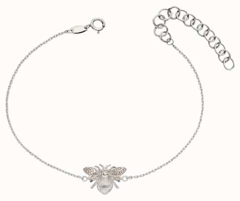 Elements Gold 9ct White Gold  Bee Bracelet (17-20cm) GB482