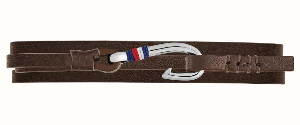 Tommy Hilfiger | Casual | Brown Nautical Wrap Leather Bracelet | 2790191S