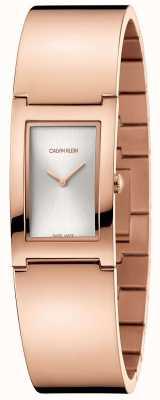 Calvin Klein   Polish   Rose Gold Plated Steel Bracelet   Silver Dial   K9C2N616