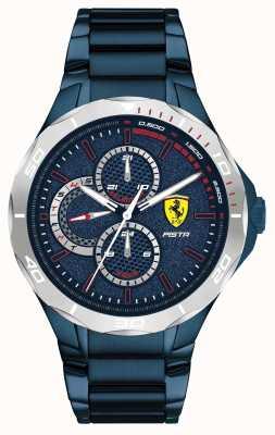 Scuderia Ferrari | Men's Pista | Blue Ion-Plated Steel Bracelet | Blue Dial 0830759