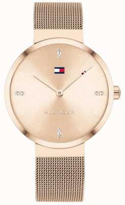 Tommy Hilfiger Liberty | Rose-Gold Mesh Bracelet | Rose Gold Dial 1782218