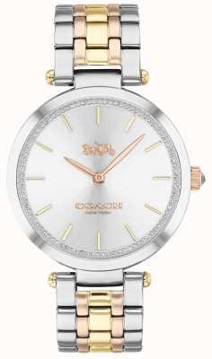 Coach | Women's Park | Triple-Tone Steel Bracelet | Silver Dial 14503508
