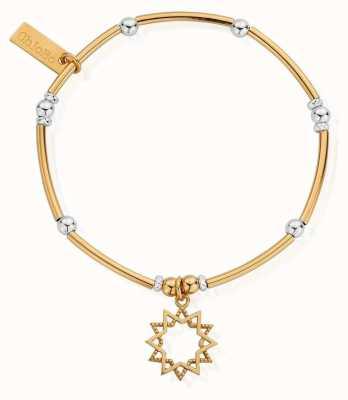 ChloBo Gold And Silver Wishful Soul Star Bracelet GMBMNBR1129