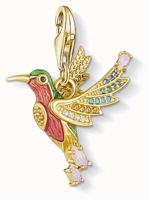 Thomas Sabo | Charm Pendant Colourful Humming Bird | Gold 1828-974-7