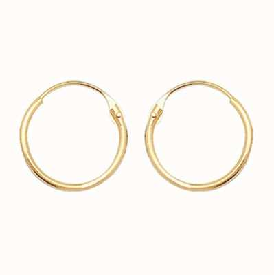 James Moore TH 9ct Gold 9mm Hinged Sleeper Earrings ES315