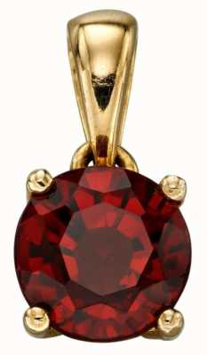 Elements Gold 9k Y/gold Red Garnet January Birthstone  Pendant Only GP2189