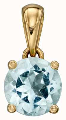 Elements Gold 9k Y/gold Aquamarine Birthstone Pendant Only GP2191
