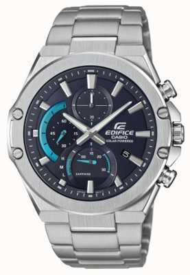 Casio | Edifice Solar | Stainless Steel Bracelet | Black Dial EFS-S560D-1AVUEF