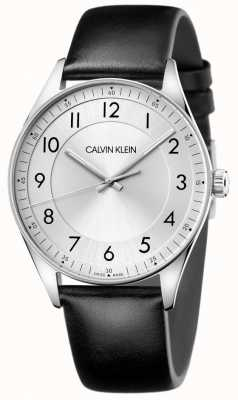Calvin Klein | Bright | Black Leather Strap | Silver Dial KBH211C6