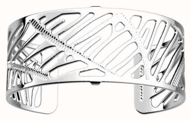 Les Georgettes 25mm Zebrures Silver Finish Bangle 70346611600000