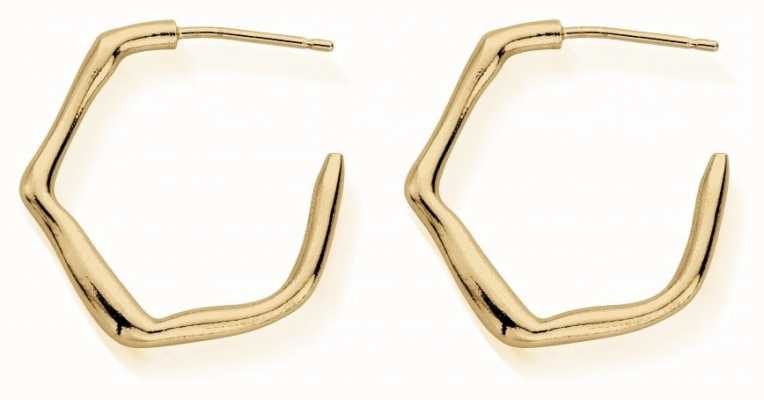 ChloBo Dancing Waves Small Hoop Earrings | Gold GEH3045