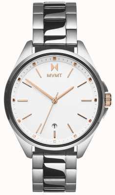 MVMT   Women's Coronada   Stainless Steel Bracelet   White Dial 28000001-D