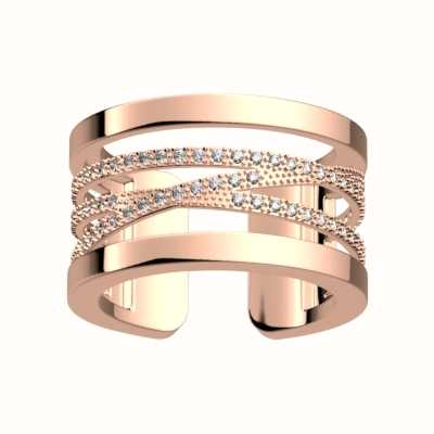 Les Georgettes 12mm Liens CZ Pattern Rose Gold Ring (52) 70305224008052