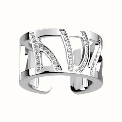 Les Georgettes 12mm Perroquet Silver Plated CZ Ring (54) 70314431608054