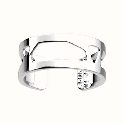 Les Georgettes 8mm Girafe Silver Finish Ring (58) 70326131600058