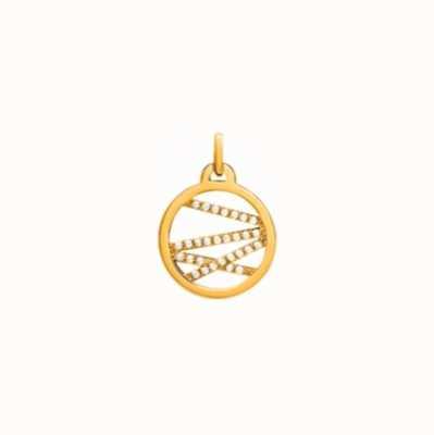 Les Georgettes 16mm Liens Gold Plated CZ Round Pendant 70318741908000