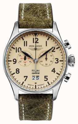 Iron Annie Flight Control Quartz | Olive Green Strap | Beige Dial 5186-5