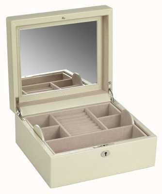 WOLF London Cream Square Jewellery Box 315253