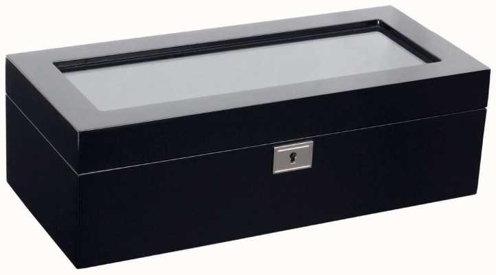 WOLF Savoy Black 5Pc Watch Box 461570