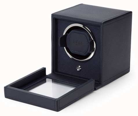 WOLF Cubs Navy Single Watch Winder With Cover 461117