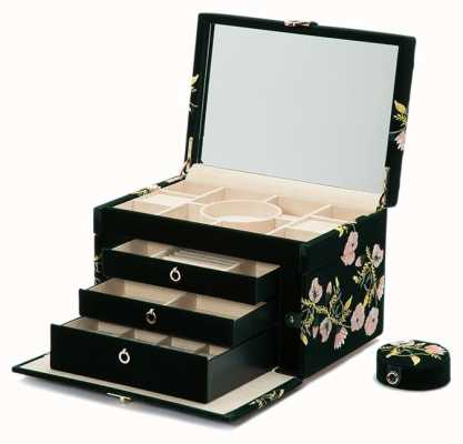 WOLF Zoe Forest Green Large Jewellery Box 393012