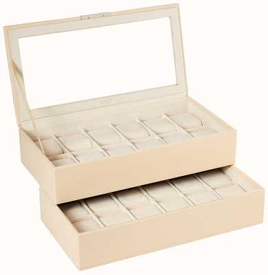 WOLF Stackable Watch Tray Cream 12Pc Set Of 2 319753