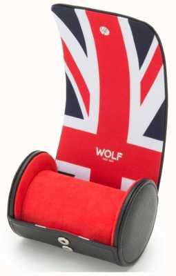 WOLF Navigator Union Jack Single Watch Roll 523203