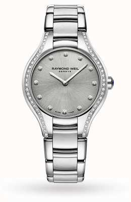 Raymond Weil Women's Noemia | 64 Diamond | Stainless Steel | Grey Dial 5132-STS-65081