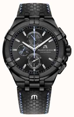 Maurice Lacroix Men's Aikon Chronograph | Limited Edition | Black Leather AI1018-PVB01-337-1